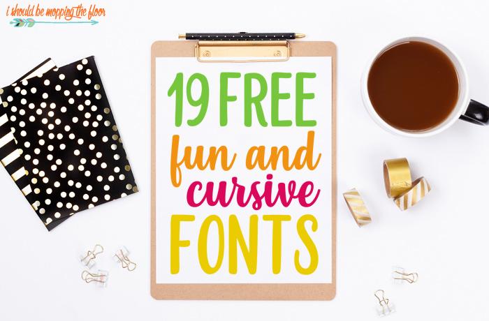 Fun Script Fonts