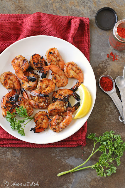 Low-FODMAP Grilled Paprika Shrimp  /  Delicious as it Looks