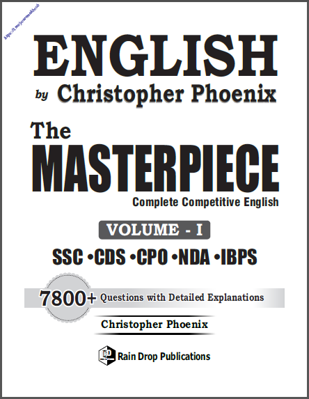 English The Masterpiece Vol- I : For All Competitive Exam PDF Book