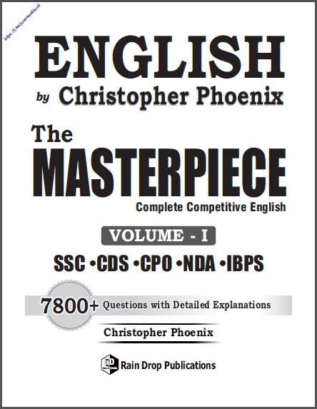 अंग्रेजी द मास्टरपीस वॉल्यूम- 1 : सभी प्रतियोगी परीक्षा हेतु पीडीऍफ़ पुस्तक | English The Masterpiece Vol- I : For All Competitive Exam PDF Book