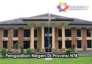 Alamat Kantor Pengadilan Negeri DI Seluruh Wilayah Provinsi Nusa Tenggara Barat
