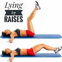 Lying on leg lifts