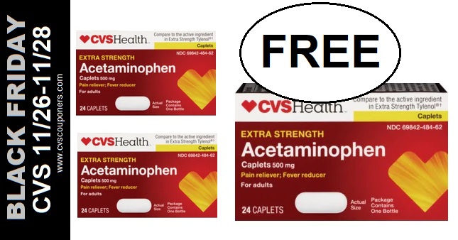 FREE CVS Acetaminophen Pain Relief 11-26-11-28