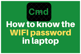 How to know the wifi password in laptop