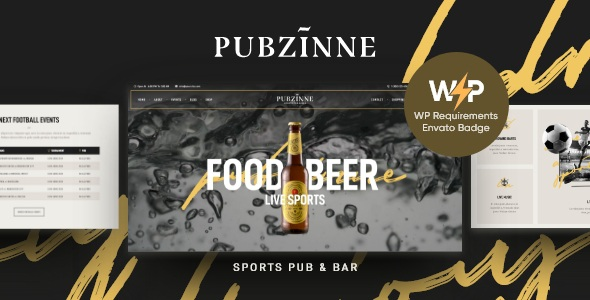 Sports Bar Responsive Website Template