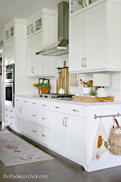 Adding small DIY details to kitchen cabinets