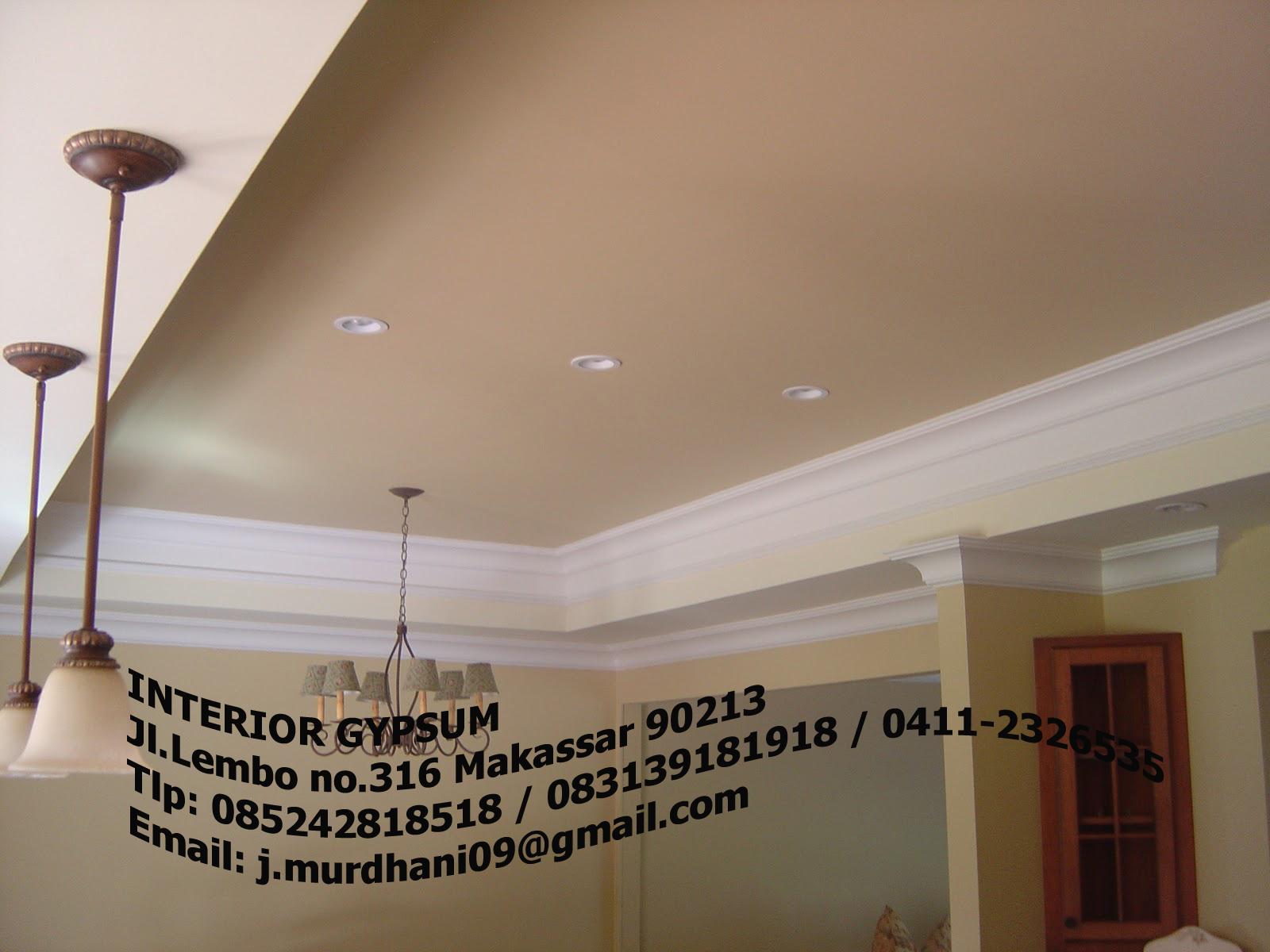 Contoh Gambar Lis Plafon Gypsum Expo Desain Rumah