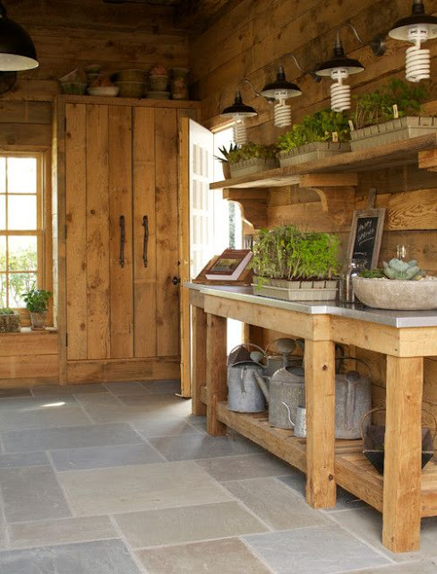 Interior Shed Decorating Ideas: SHELTER: The Potting Shed