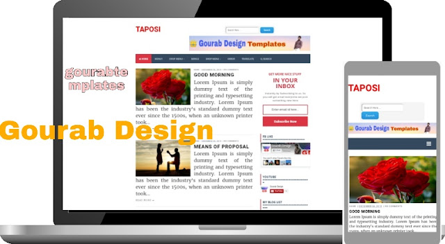 taposi high quality blogger template