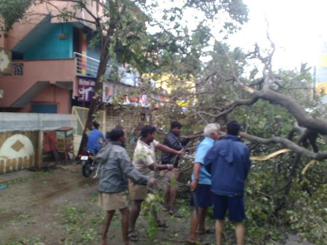 #CycloneVardah some photos