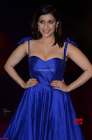 Mannara Chopra in Deep Neck Blue Gown at Zee Telugu Apsara Awards ~  Exclusive 043.jpg