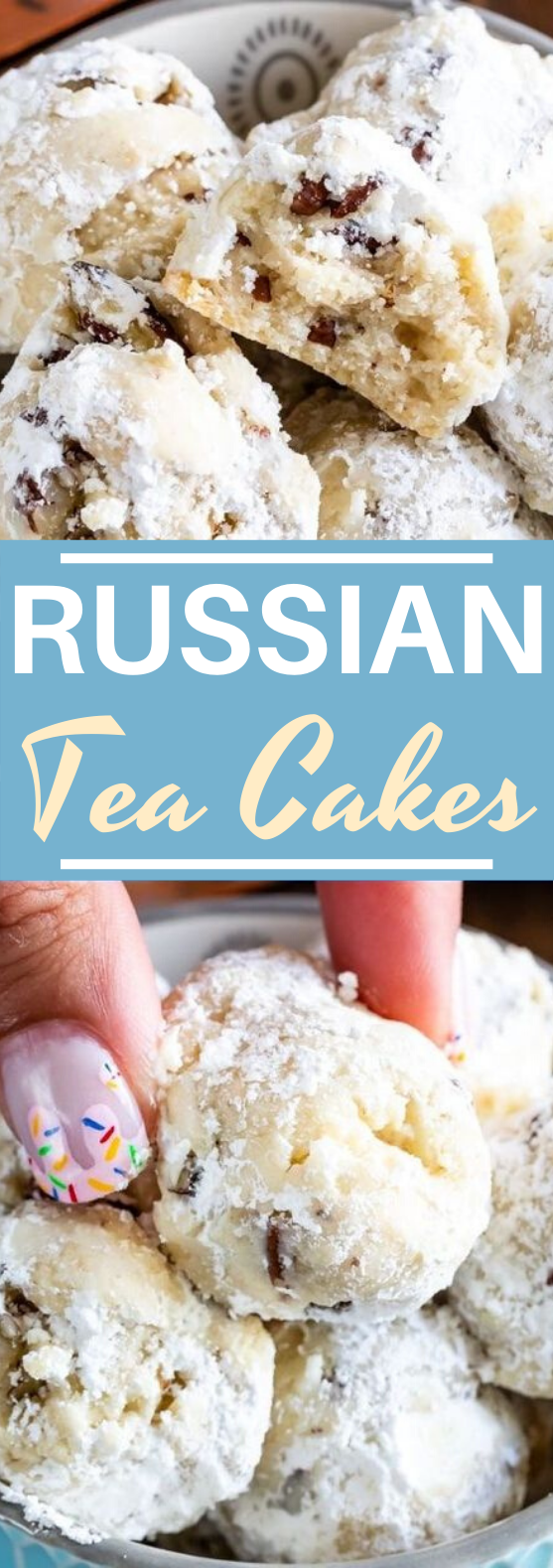 Russian Tea Cakes #cookies #cake #desserts #baking #christmas #sweet