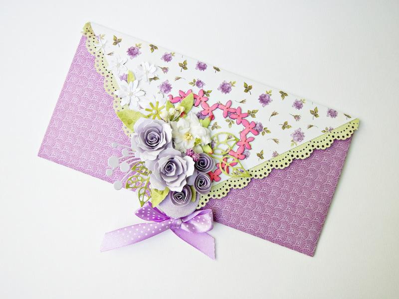 Kartka kopertówka ręcznie robiona