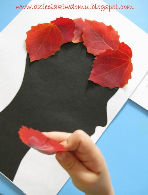 jesienne fryzury z liści