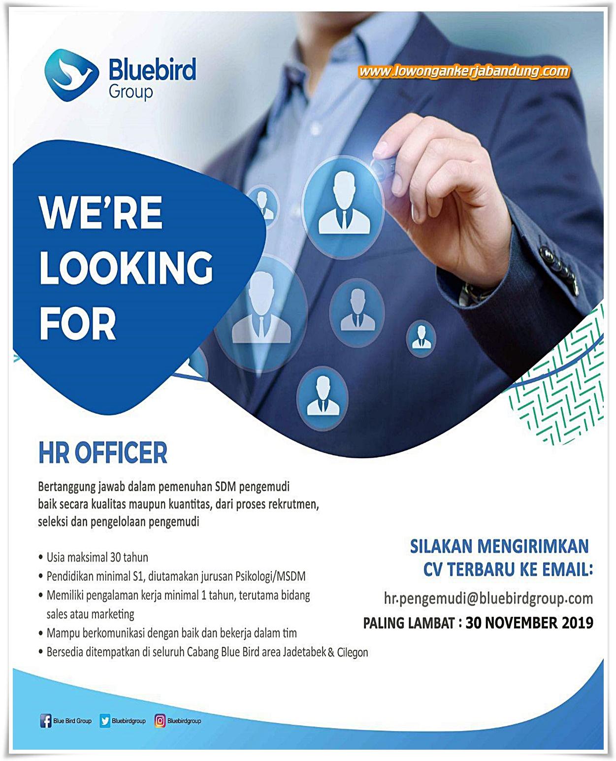 Lowongan Kerja Bandung Karyawan HR Officer Bluebird Group ...