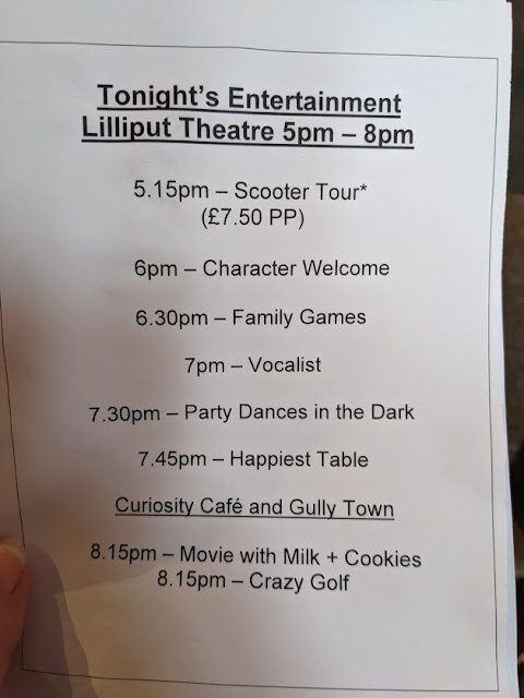 Gulliver's Valley Stay & Play Review evening entertainment