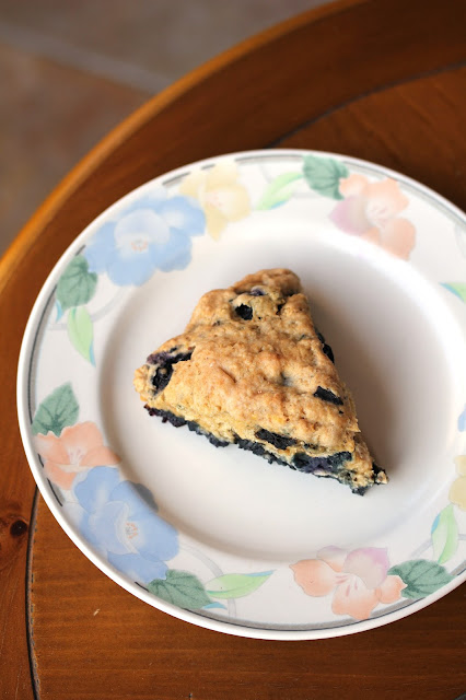 Healthy Vegan Blueberry Scones