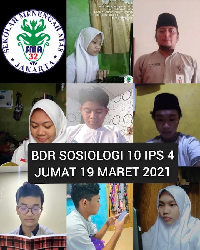 Sosiologi 10 IPS 4 (25 Maret 2021)