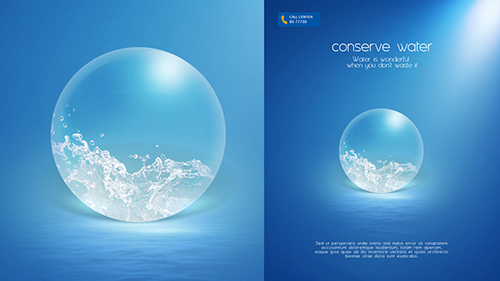 Photoshop Tutorial Poster Conserve Water