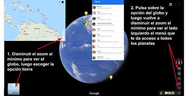 ver sistema solar en google maps
