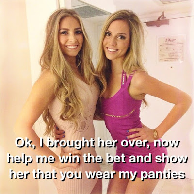 Show her your panties - Sissy TG Caption