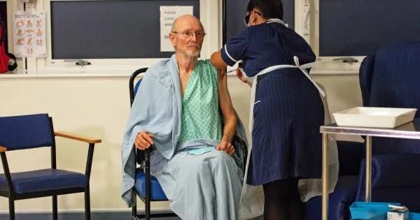 Βρετανία: Πέθανε ο πρώτος άνδρας που είχε εμβολιαστεί με το εμβόλιο της Pfizer παγκοσμίως
