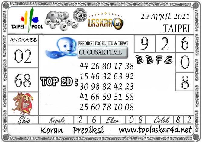 Prediksi Togel TAIPEI LASKAR4D 29 APRIL 2021