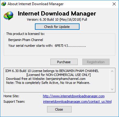 Internet Download Manager 6.30 Build 10, Kích Hoạt An Toàn, Hoàn Toàn Sạch Virus Với virustotal.com Idm6.30build10