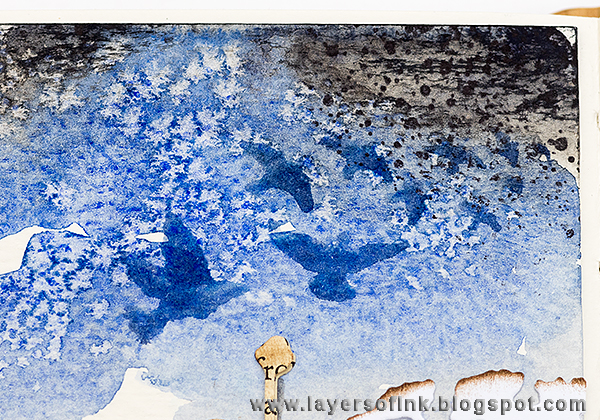 Layers of ink - Textured Watercolour Journal Page by Anna-Karin