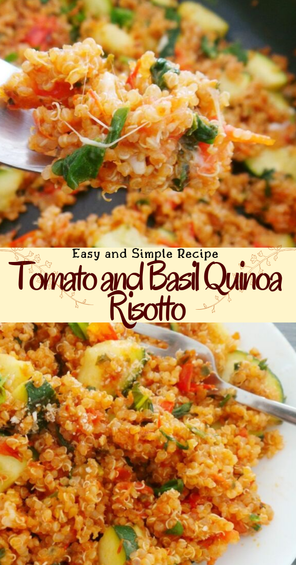 Tomato and Basil Quinoa Risotto #healthyfood #dietketo #breakfast #food