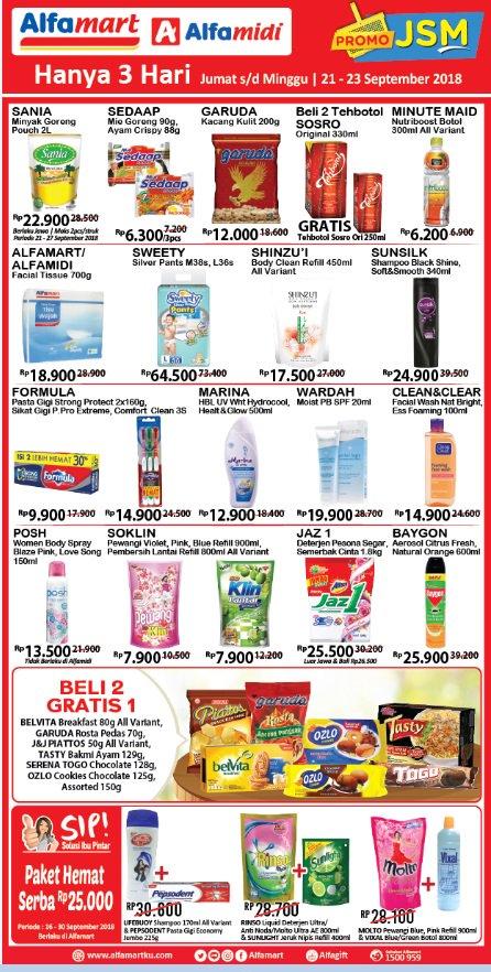 Alfamart - Katalog Promo JSM  Periode 21 - 23 September 2018