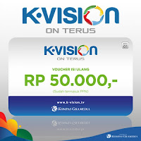 Voucher TV K-Vision 50k Murah