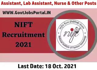 NIFT Recruitment 2021
