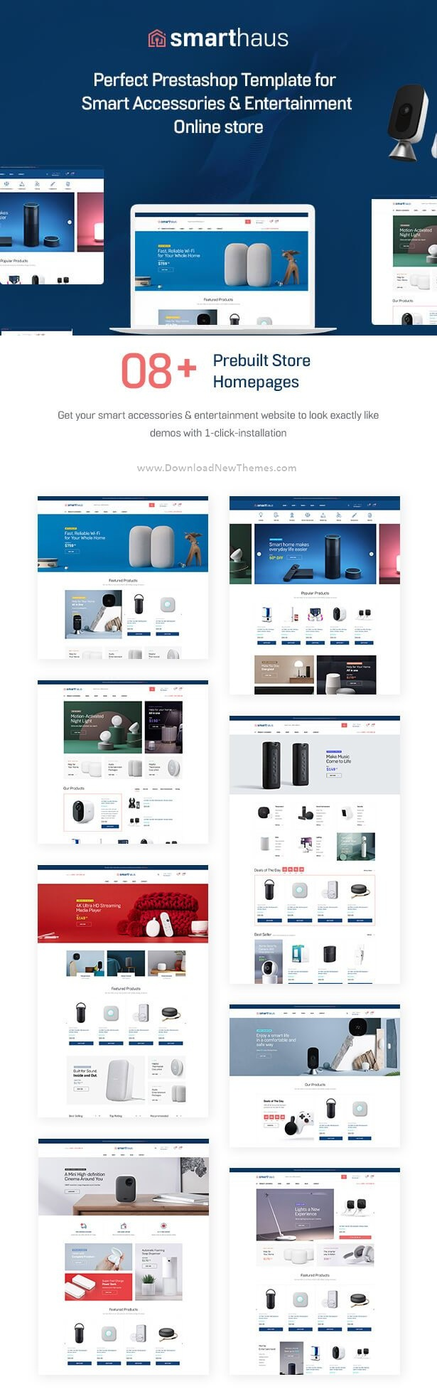Smart Devices & Entertainment Prestashop Theme