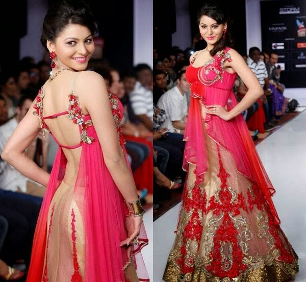 Backless Blouse, Backless Blouse Design, Backless Blouse Designs, Backless Designer Blouse, Urvashi Rautela Backless Blouse