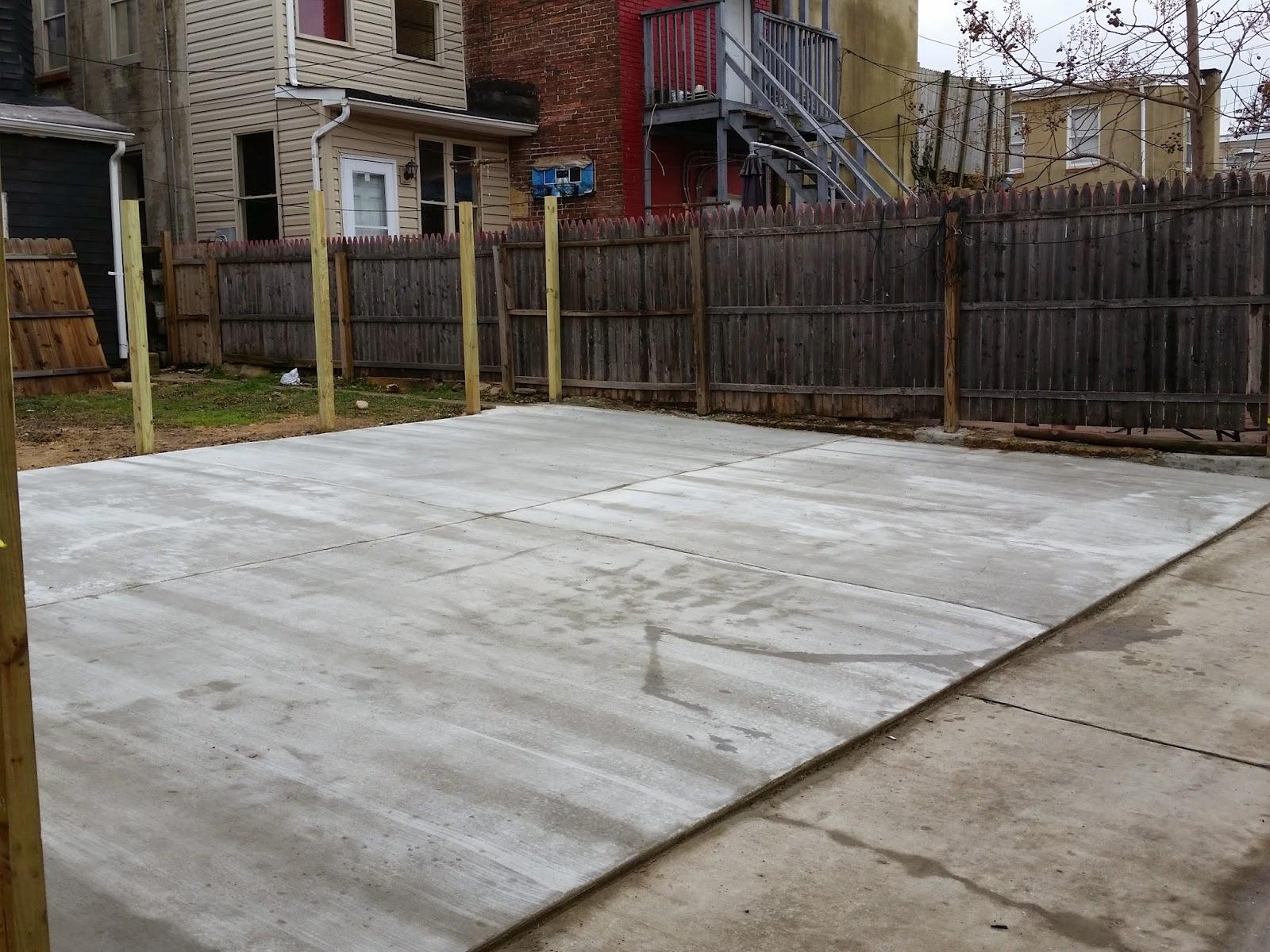 Custom Stoneworks Amp Design Inc Concrete Parking Pad