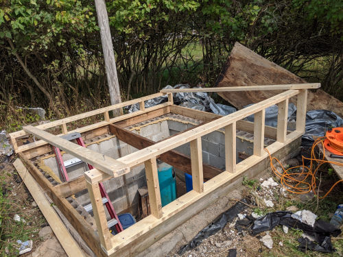 framing for a well pit