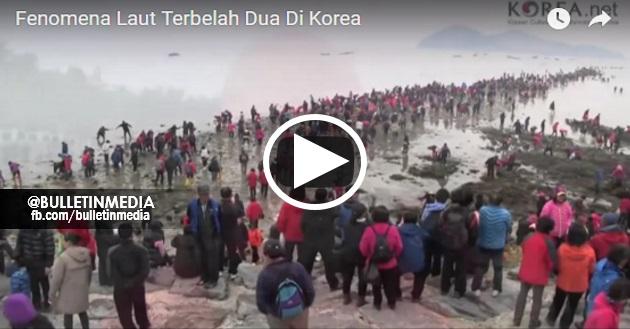 """SUBHANALLAH !! Video Merakamkan saat """"""""LAUT TERBELAH DUA"""""""".. Jutaan Penduduk Korea Menyaksikan kejadian Ini.. Ketika Lautan Terbelah .."""