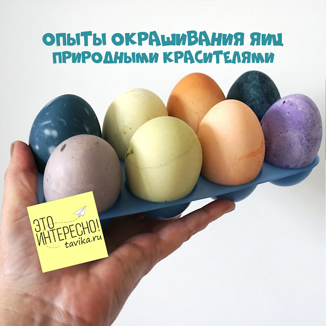 химические опыты с пасхальными яйцами