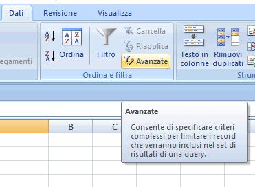 filtrare righe/celle duplicate su Excel