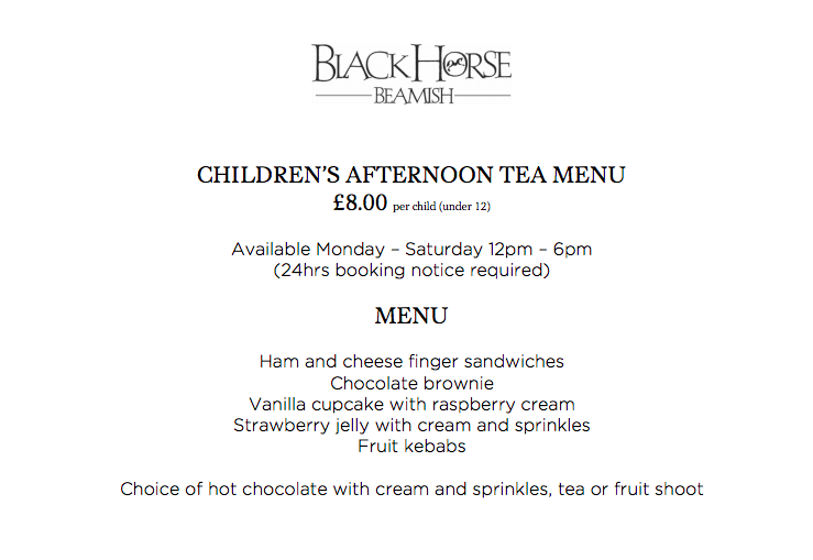 20+ Places you can book Children's Afternoon Tea in North East England - black horse beamish