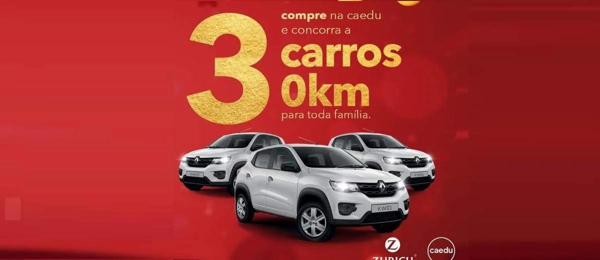 Promoção Caedu Natal 2019 - 3 Carros 0KM