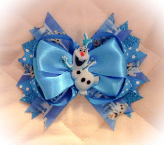 Olaf-inspired Frozen hair bow