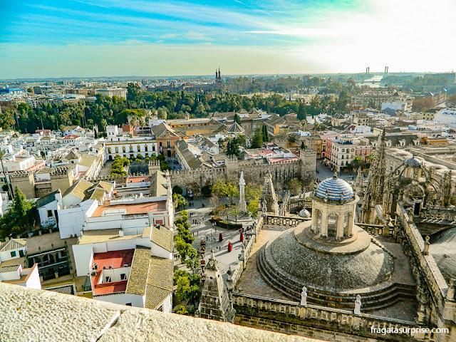 Praça do Triunfo vista do alto da Torre da Giralda, Sevilha, Andaluzia