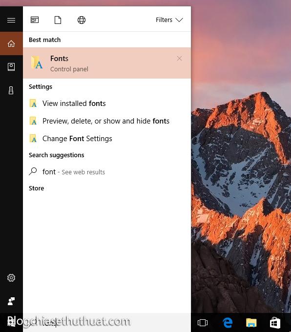 Làm thế nào để thay đổi font chữ Windows 10 mặc định