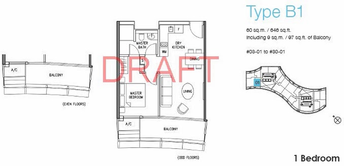 DUO Residences 1 Bedroom