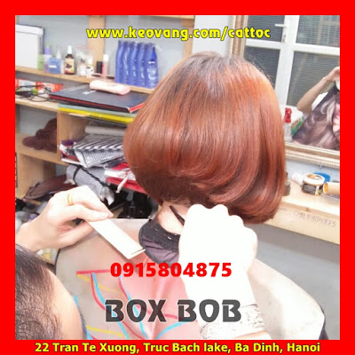 Box Bob kiểu tóc hình khối lập phương Vidal Sassoon cắt bởi salon Koriga...