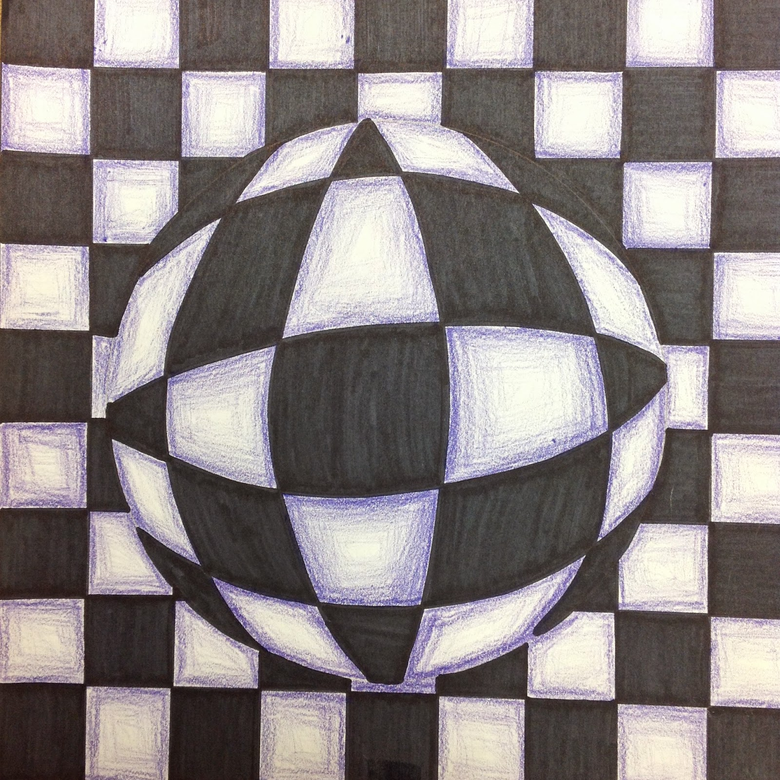 optical illusion drawing op grade illusions 5th drawn lesson checkerboard steps getdrawings arty pants miss pencil draping into
