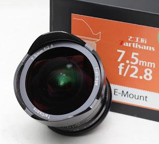 Lensa 7Artisans 7.5mm f2,8 FishEyeFor Sony E Mount Bekas