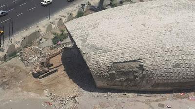 "Demolishing the famous EL-Salam theater in Alexandria ""Facebook"""